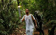 Olympic torch ceremony was held in the Brazilian Amazon city of Manaus at a zoo attached to a military training center. Picture: Facebook.