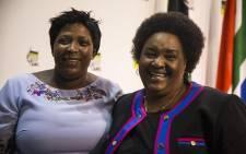 Sisi Ntombela, premier-elect of the Free State and Refilwe Mtshweni, premier-elect of Mpumalanga. Photo: Kayleen Morgan/EWN