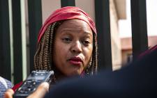 FILE: Gauteng EFF chairperson Mandisa Mashego addresses the media outside the Bramley police station after laying a criminal complaint against Adam Catzavelos. Picture: Kayleen Morgan/EWN