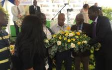 Justice Minister Ronald Lamola hands over the remains of the Cato Manor 9 to their families at a ceremony in Durban on 24 January 2020.Picture: Nkosikhona Duma/EWN