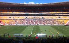 The much anticipated Soweto Derby underway at FNB Stadium on 8 December 2012. Picture: Lelo Mzaca/EWN