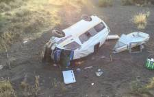 FILE. Four people were killed in a head-on collision between several taxis between Laingsburg and Prince Albert on the N1 Highway on Monday 20 December 2015. Picture: Supplied.