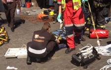 One person died and another is in a critical condition after they fell into a petrol tank in Boksburg. Picture: Emer-G-Med