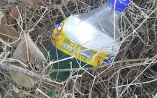 """FILE: Containers of petrol were found at the University of the Western Cape on Wednesday 19 October 2016 amid fees protests. Picture:Supplied."""""""