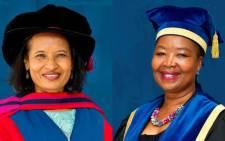 New Nelson Mandela University chancellor Geraldine Fraser-Moleketi with Vice-Chancellor Dr Sibongile Muthwa. Picture: Twitter/@MandelaUni