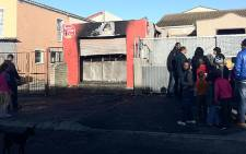 A garage which is used as a spaza shop by Somalis in Beacon Valley was destroyed on 10 July 2012. Picture: Malungelo Booi/EWN