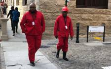 EFF MP Floyd Shivambu and fellow MP Kenny Motsamai. Picture: Bertram Malgas/EWN.