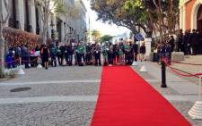 Photographers waiting at the red carpet ring outside Parliament for the State of the Nation Address on 17 June 2014. Picture: Rahima Essop/EWN.