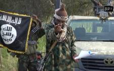 A file of a screengrab taken on October 2, 2014 from a video released by the Nigerian Islamist extremist group Boko Haram and obtained by AFP shows the leader of the Nigerian Islamist extremist group Boko Haram, Abubakar Shekau. Picture: AFP.