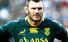 Springbok Danie Russouw poses during the Tri Nations Rugby Union match between South Africa and New Zealand at the Nelson Mandela Bay Stadium in Port Elizabeth, 20 August 2011. Picture: AFP.