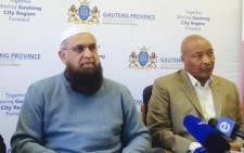Gauteng Transport MEC Ismail Vadi (left). Picture: Dineo Bendile/EWN.