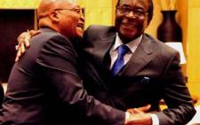 President Robert Mugabe (right). Picture:GCIS