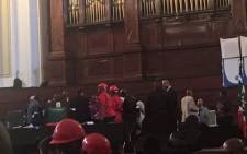 Processes at the Johannebsurg council meeting are still suspended as party agents are in talks. Picture: Clement Manyathela/EWN.