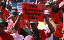 Cosatu's members marched on Parliament on 19 February 2019 amid concerns over potential job cuts at state entities, like Eskom. Picture: Cindy Archillies/EWN