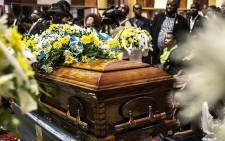 The casket of Thoriso Themane at a funeral service held at Jack Botes hall. Picture:  Kayleen Morgan/EWN.