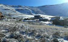 Snow blankets the ground at the Tiffendell Ski Resort in the Drakensberg in the Eastern Cape. Picture: Tiffendell Ski & Alpine Resort