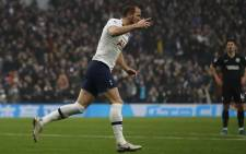Tottenham Hotspur's English striker Harry Kane celebrates after he scores his team's first goal during the English Premier League football match between Tottenham Hotspur and Brighton and Hove Albion at Tottenham Hotspur Stadium in London, on 26 December 2019. Picture: AFP.