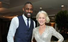 Actors Idris Elba and Helen Mirren attend the Weinstein Company & Netflix's 2016 SAG after party hosted by Absolut Elyx at Sunset Tower on 30 January, 2016 in West Hollywood, California. Picture: AFP.
