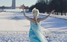 An image of a woman dressed as Elsa the Snow Queen, a character from the animated film Frozen. Picture: Twitter
