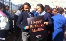 Alexandra Secondary School pupils commemorate Nelson Mandela Day. Picture: Matshidiso Madia/EWN.