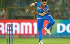 FILE: Delhi Capitals bowler Axar Patel bowls during the 2019 Indian Premier League (IPL) Twenty20 cricket match between Delhi Capitals and Rajasthan Royals at the Sawai Mansingh Stadium in Jaipur on 22 April 2019. Picture: Sajjad Hussain/AFP