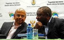 FILE: Public Enterprises Minister Pravin Gordhan pictured with President Cyril Ramaphosa. Picture: GCIS