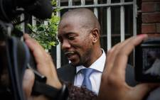 DA Leader Mmusi Maimane lays charges against the Gupta family in Cape Town, 17 march 2016. Picture: Thomas Holder/EWN