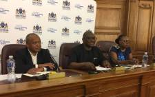 Premier David Makhura announces changes to the Gauteng executive council at the Gauteng Legislature on 13 March 2018 in Johannesburg. Picture: Ihsaan Haffejee/EWN