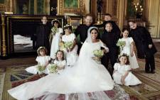 The Duke and Duchess of Sussex pictured on their wedding day, 19 May 2018, along with their bridal entourage. Picture: Alexi Lubomirski/@KensingtonRoyal/Twitter