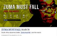 FILE: A screengrab of a clock from the website zumamustfallmarch.co.za counting down to 16 December when people will march to the Union Buildings in Pretoria.