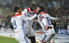 Lyon players celebrate a victory in their UEFA Champions League match against Shakhtar Donetsk on 12 December 2018. Picture: @ChampionsLeague/Twitter