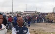 A group of Vredenburg residents demonstrate against poor service delivery in the West Coast town on 14 November 2018. Picture: EWN