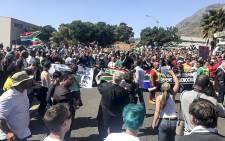Anti-Zuma protesters in Cape Town. Picture: EWN