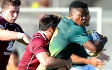 FILE: Junior Boks centre Wandisile Simelane in action against Georgia. Picture: @JuniorBoks/Twitter
