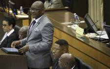 Gauteng Premier David Makhura speaking at the Gauteng Legislature on 26 February 2018.  Picture: Sethembiso Zulu/EWN.
