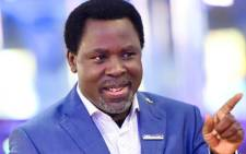 Popular Nigerian televangelist TB Joshua passed away at the age of 57 on Saturday, 05 June 2021. Picture: Facebook/@tbjministries