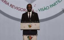 FILE: Mozambique's Prime Minister Carlos Agostinho Do Rosario addresses delegates during The India-Africa Summit in New Delhi on 29 October 2015. Picture: AFP.