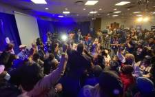 Scenes of excitment following the announcement of John Steenhuisen as the DA's new leader on Sunday, 1 November 2020. Picture: @JSteenhuisen/Twitter