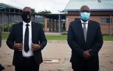 FILE: Gauteng MEC for Education Panyaza Lesufi and Gauteng Premier David Makhura on 15 February 2021. Picture: Xanderleigh Dookey Makhaza/Eyewitness News.