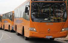 FILE: Putco buses outside the Sandton Testing Station. Picture: EWN.
