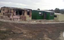 Sixteen homes in the Sir Lowry's Pass Village Incremental Development Area were petrol-bombed by protesters on 25 February 2016. Picture: Supplied.
