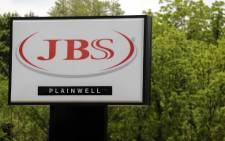 In this file photo taken on 2 June 2021 the JBS meat plant is viewed in Plainwell, Michigan. The CEO of Brazilian meat processor JBS said the company paid $11 million in bitcoin to ransomware extortionists to prevent any further disruption, an article in the Wall Street Journal reported on 9 June 2021. Picture: AFP