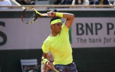 Rafa Nadal in action at the French Open on 27 May 2019. Picture: @rolandgarros/Twitter