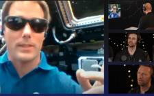 French Astronaut Thomas Pesquet with Coldplay. Picture: Screenshot