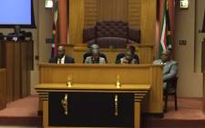 FILE: Parliament's presiding officers held a media briefing following chaos during Sona on 17 February 2015. Picture: Thomas Holder/EWN.
