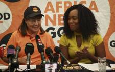 Patricia de Lille and Nthabiseng Lephoko at the Good Party Manifesto Launch. Picture: Cindy Archillies/EWN