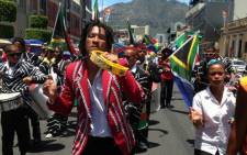 Bands make their way down Somerset Road as part of Reconciliation Day celebrations. Picture: Lauren Isaacs/EWN