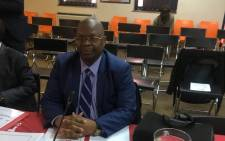 FILE: Deputy Minister of Cooperative Governance and Traditional Affairs, Obed Bapela, at the SAHRC's inquiry into Alexandra township on 24 July 2019. Picture: Edwin Ntshidi/EWN.