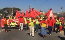 South African Municipal Workers' Union members support Cosatu's protest against e-tolls. Picture: @_cosatu/Twitter