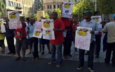 The Communication Workers Union demonstrated outside Parliament in Cape Town on 23 February 2016. Picture: Natalie Malgas/EWN.